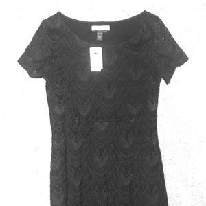 Maternity black cocktail dress